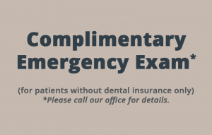 Complimentary emergency exam