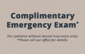 Complimentary emergency exam